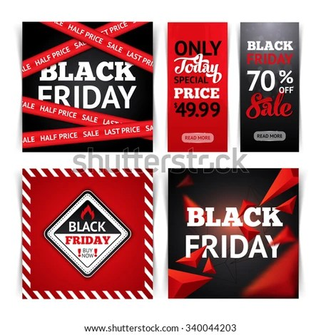 Templates Black Friday Sale Backgrounds Tapes Stock Vector (Royalty