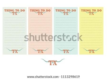 Texas Thing Do Printable Template Vector Stock Vector (Royalty Free
