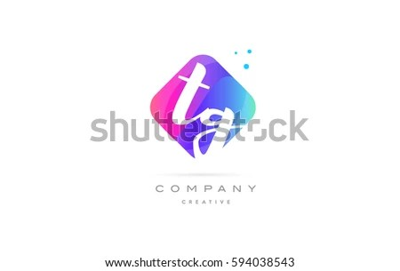 Tg T G Pink Blue Rhombus Stock Vector (Royalty Free) 594038543 - text logo template