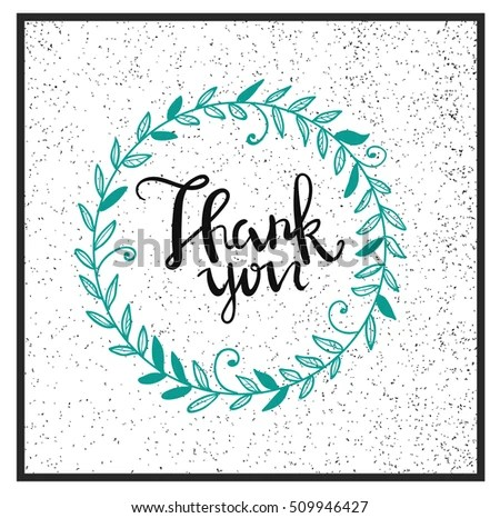 Thank You Card Design Thank You Stock Vector (Royalty Free