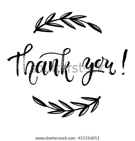 Thank You Card Thanks Vector Isolated Stock Vector (Royalty Free