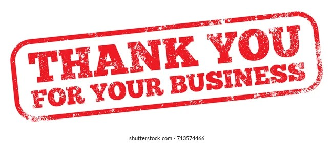 Thank You For Your Business Images, Stock Photos  Vectors
