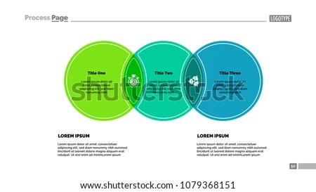 Three Circles Process Chart Template Business Stock Vector (Royalty
