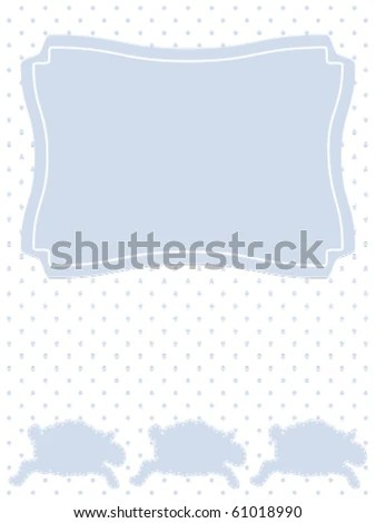 Three Lambs On Dotted Background Baby Stock Vector (Royalty Free