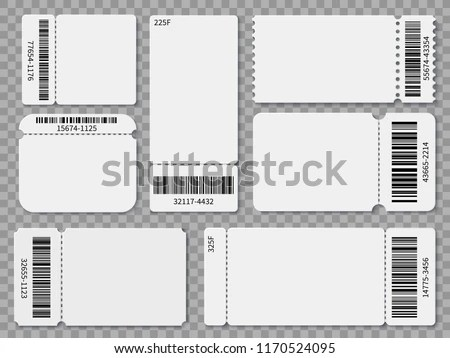 Ticket Templates Blank Admit One Festival Stock Vector (Royalty Free