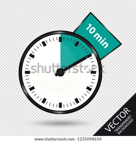 Timer 10 Minutes Vector Illustration Isolated Stock Vector (Royalty