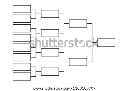 Tournament Bracket 8 Team Icon Template Stock Vector (Royalty Free