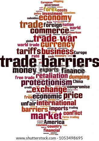 Trade Barriers Word Cloud Concept Vector Stock Vector (Royalty Free