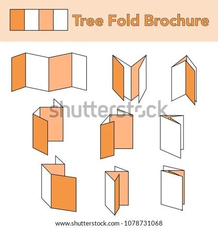 Tree Fold Brochure Folding Paper Vectors Stock Vector (Royalty Free