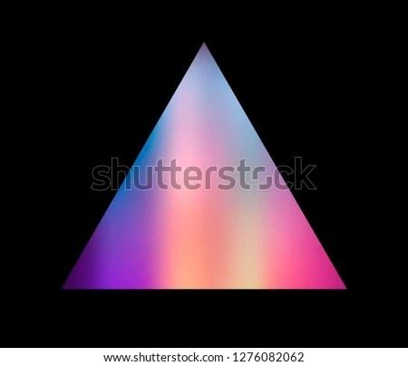 Trendy Cover Logo Template Holographic Triangle Stock Vector