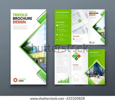 Tri Fold Brochure Design Corporate Business Stock Vector (Royalty