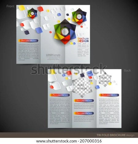 Tri Folder Brochure Leaflet Mock Stock Vector (Royalty Free