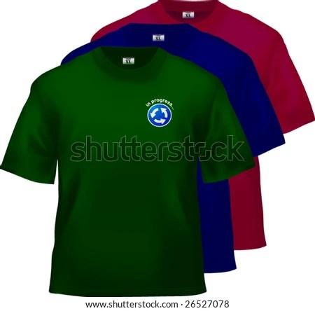Tshirt Design Templates Popular Dark Colors Stock Vector (Royalty