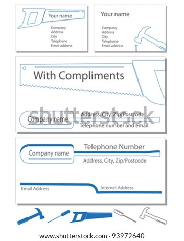 Two Business Card Designs Compliment Slip Stock Vector (Royalty Free