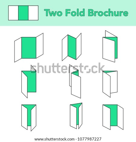 Two Fold Brochure Folding Paper Vectors Stock Vector (Royalty Free