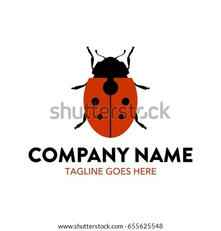 Unique Ladybug Logo Template Stock Vector (Royalty Free) 655625548