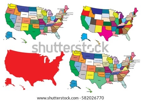 United States America Map Background Stock Vector (Royalty Free