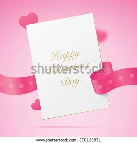 Valentine Card Greeting Letter Golden Text Stock Vector (Royalty