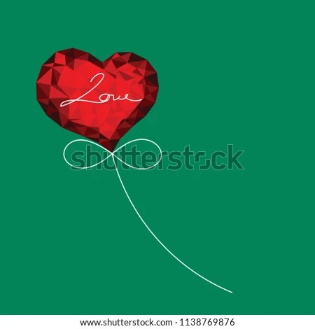 Valentines Day Card Design Template Low Stock Vector (Royalty Free