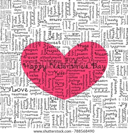 Valentines Day Love Background Greeting Card Stock Vector (Royalty