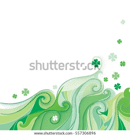 Vector Abstract Background Dotted Lucky Four Stock Vector (Royalty