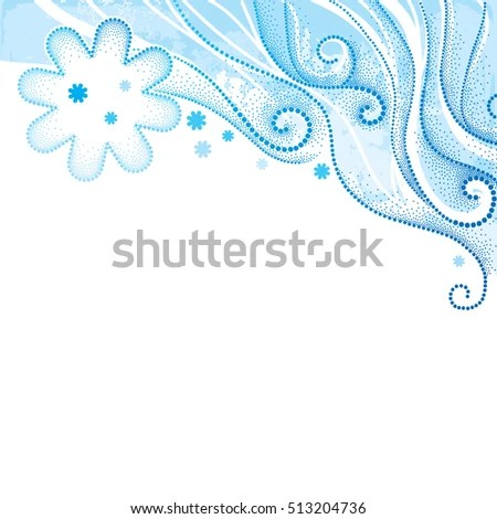 Vector Abstract Background Dotted Swirls Curly Stock Vector (Royalty