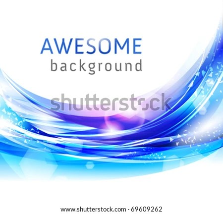 Vector Awesome Abstract Blue Backgrounds Business Stock Vector