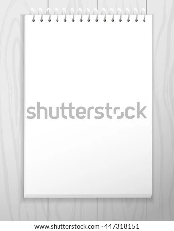 Vector Blank Notebook Blank Paper Sheet Stock Vector (Royalty Free