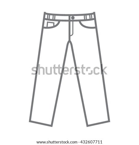 Vector Blank Pants Template Stock Vector (Royalty Free) 432607711