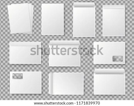 Vector Blank White Paper C 4 Envelope Stock Vector (Royalty Free