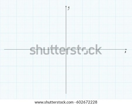 Vector Blue Plotting Graph Paper Axis Stock Vector (Royalty Free