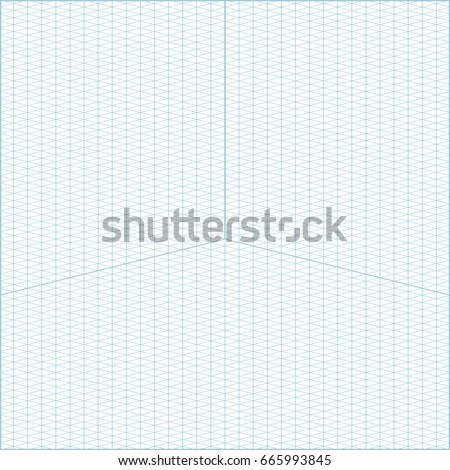 Vector Blue Wide Angle Isometric Grid Stock Vector (Royalty Free