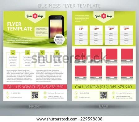 Vector Business Flyer Brochure Design Template Stock Vector (Royalty