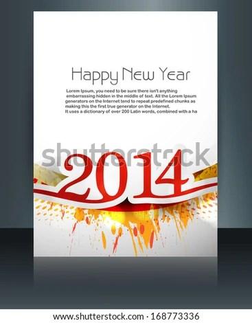 Vector Card Brochure Presentation Happy New Stock Vector (Royalty
