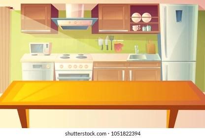 Cartoon Kitchen Table Images Stock Photos Vectors