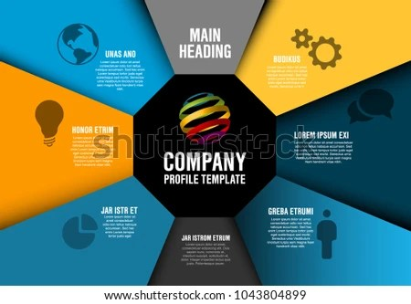 Vector Company Profile Infographic Diagram Template Stock Vector