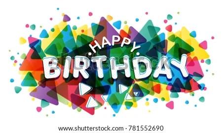 Vector Creative Illustration Happy Birthday Word Stock Vector