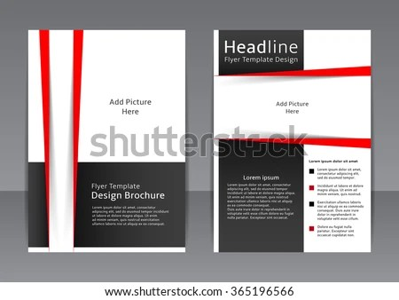 Vector Design Black White Flyer Cover Stock Vector (Royalty Free