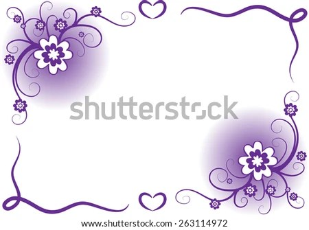 Vector Design Flowers Border Purple Stock Vector (Royalty Free