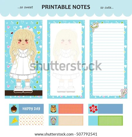 Vector Design Printable Notes Cover Pages Stock Vector (Royalty Free