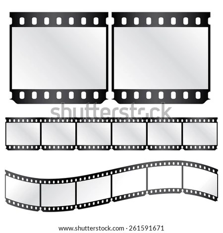 Vector Film Strips Waveform Straight Strip Stock Vector (Royalty