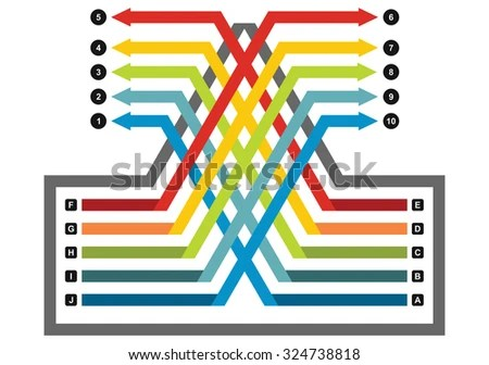Vector Flow Chart Template Color Arrows Stock Vector (Royalty Free
