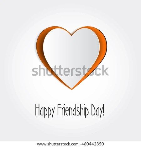 Vector Friendship Card Background Symbol Cut Out Stock Vector