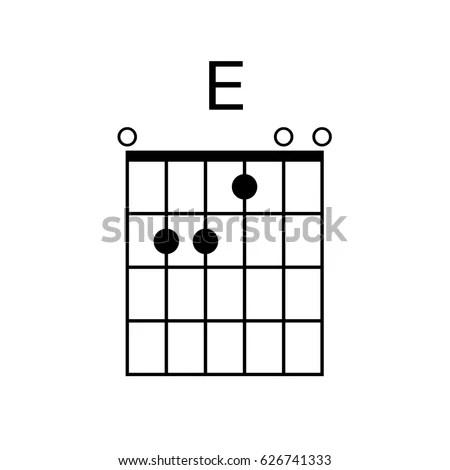 Vector Guitar Chord E Chord Diagram Stock Vector (Royalty Free