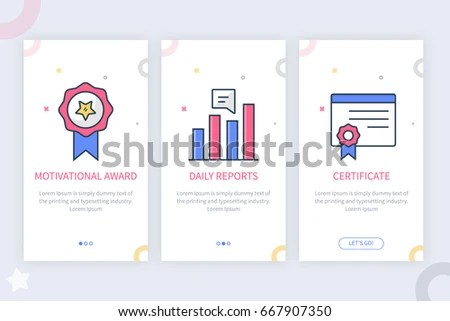 Vector Illustration App Screens Web Concept Stock Vector (Royalty