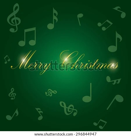 Vector Illustration Christmas Music Background Stock Vector (Royalty