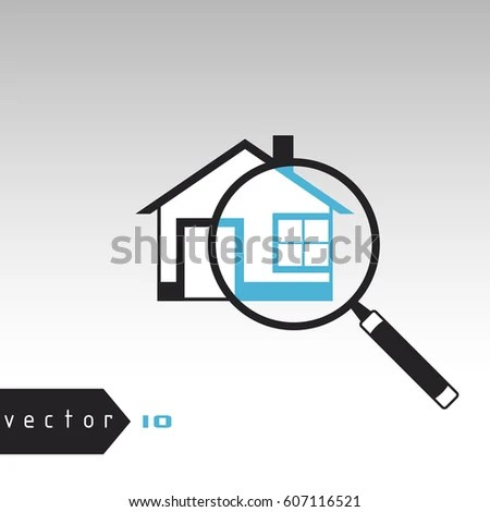Vector Illustration Search House Find Address Stock Vector (Royalty