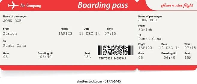 Boarding Pass Images, Stock Photos  Vectors Shutterstock