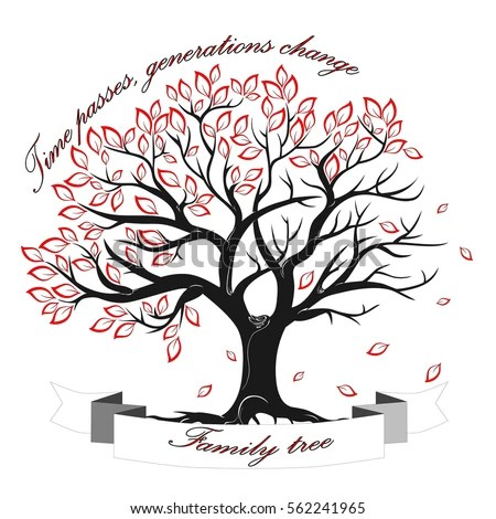 Vector Image Template Family Tree Isolated Stock Vector (Royalty