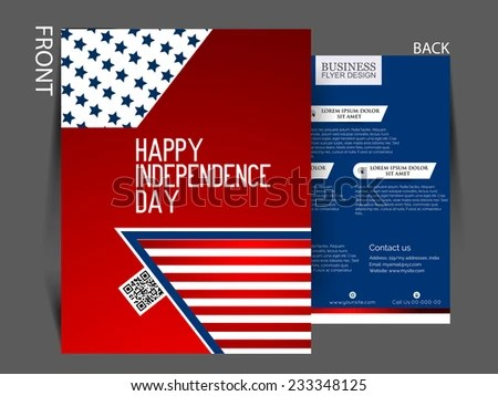 Vector Independence Day Flyer Stock Vector (Royalty Free) 233348125